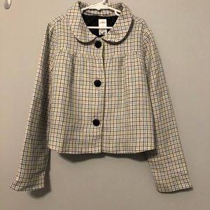 Gymboree Petite Mademoiselle 9 Check Crop Jacket